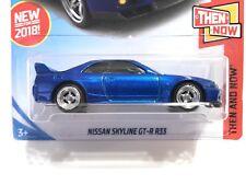 2018 Hot Wheels Nissan Skyline GT-R R33 Blue - w/Real Riders SUPER CUSTOM