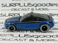 Hot Wheels 1:64 LOOSE 2012 Boulevard Blue FORD MUSTANG GT Concept w/Real Riders