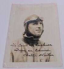 1. Transatlantik-Flieger Walter Hinton: Foto mit Widmung an Felix Graf  Luckner