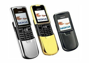 ⭐⭐New Condition Nokia 8800 - Silver Gold Black (Unlocked) Mobile Phone+ Warranty