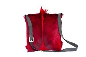 Red springbok messenger bag w/italian buckle