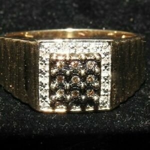 Men's Size 10K Gold and Diamond Ring