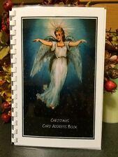 CHRISTMAS CARD ADDRESS BOOK Organizer A-Z Personalized Gift 8 yrs Angel 230