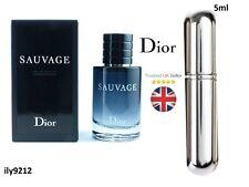 Sauvage By Dior Eau de Tiolette -Fragrance For Him - 5ml Chrome Silver Spray