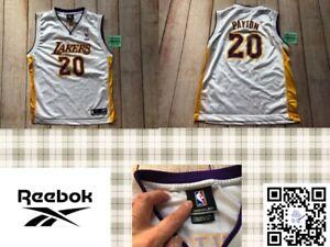 Reebok Gary Payton #20 Los Angeles Lakers Basketball Jersey Youth Boy Large L❄️