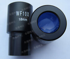 1pc WF10X 18mm Biological Microscope Wide angle Eyepiece Lens 23.2mm