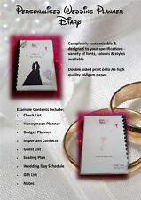 Personalised Disney Themed Wedding Planner Diary (Design Can Be Changed)