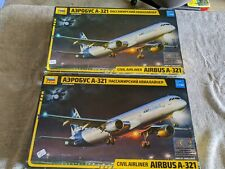 Lot 124 - 2 Airline Kits - Airbus A-321 - 1/144 Scale - Zvezda