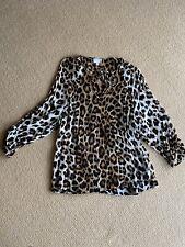 Witchery Leopard Blouse - Size 10
