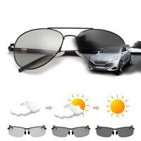 c5ba011b065 Photochromatic Men s Polarized Aviator Sunglasses Driving Fishing Sport  Eyewear