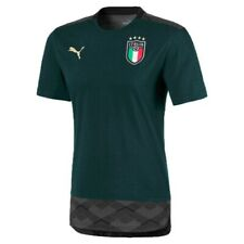ITALIA FIGC T-SHIRT VERDE CASUAL RINASCIMENTO 2019-21 PUMA ITALIA GREEN T-SHIRT