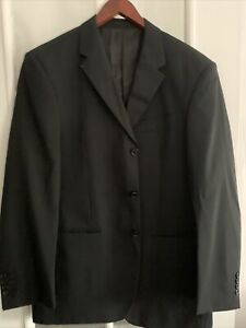 Men's/ Gents NEXT Black Two Piece Suit 34S Leg- Chest 42R Regular Fit