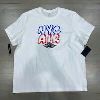 Nike Air Jordan NYC White Short Sleeve Tee T-Shirt Men's Size XXL CZ5998-100 New