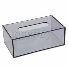 226 x 125 x 84mm Acrylic Rectangular Tissue Box Case Transparent Grey