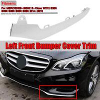 For Mercedes W212 E200 E-Class AMG Front Bumper Left Chrome Trim Molding Lip