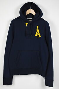 ABERCROMBIE & FITCH MUSCLE Men's LARGE Half Buttons Pullover Hoodie 36573-GS