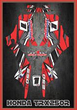 Honda TRX 250R Fourtraxx TRX  SEMI CUSTOM GRAPHICS KIT Detox