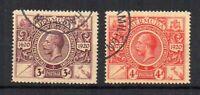 Bermuda 1921 3d and 4d Tercentenary FU CDS