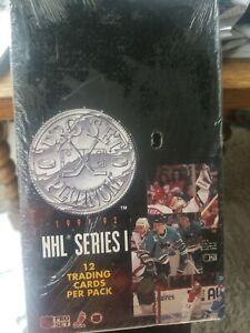 1991-92 Pro Set Platinum Series 1 sealed box - 36 packs - NHL hockey cards