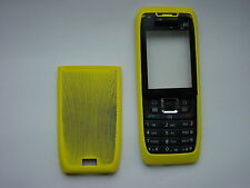 NOKIA 3 PARTS COVER CASE FOR E51 YELLOW FRONT & BACK & KEYPAD