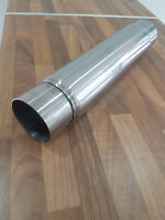 """STAINLESS STEEL EXHAUST MID SILENCER BOX 3.5"""" X 10"""" X 3"""" 14 """" BODY SPIRAL PERF"""