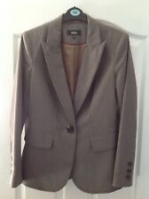 Marks And Spencer Ladies Tailored Lined Jacket Brown Size 10