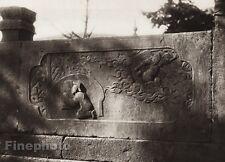 1906 Vintage CHINA PUTUO SHAN Filial Piety Sculpture Stone Photo Art BOERSCHMAN