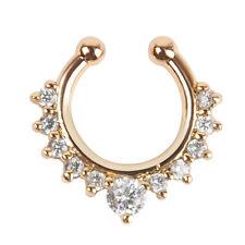 New Crystal Rhinestone Stainless Steel Nose Ring Bone Stud Body Piercing Jewelry