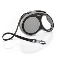 Flexi New Comfort tape lead. Grey. Extendable S/M/L 15/25/50/60Kg (5/8m leash)