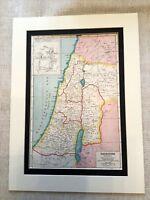 Antique Map Print Ancient Palestine Israel Middle East Vintage Art