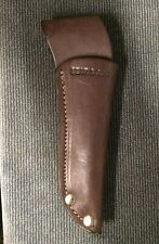 """Leather 4 5/8"""" Knife Sheath with Remington stamped (fits on a 1 3/8"""" belt)"""