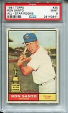 1961 Topps #35 Ron Santo Rookie PSA 9 MINT Chicago Cubs