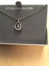 Sterling silver 925 Necklace with genuine crystals