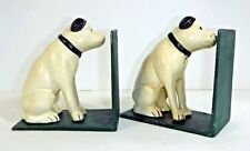 """Diecast Bookends w/Seated Dog Piggy Banks, Vintage Reproduction, 5.5"""" X 5"""""""