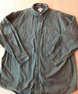 Carhartt Mens Work Shirt Jacket Sz 2XL Plaid Flannel Lined Canvas MISSING A SNAP