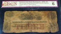 1849 $3 ,CANADA, FARMERS JOINT STOCK BANK
