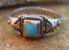 Indianerschmuck Schön Vintage Handgemacht Navajo Stil Sterling Silber Folie Opal Attraktives Aussehen