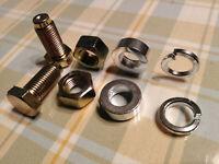 5x 8-tlg.Schraubensatz Sicherheitsgurt Feingewinde Spezialschrauben 7/16UNF 25mm