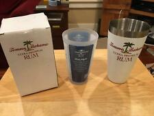 Tommy Bahama Rum Stainless Shaker and Recipe Glass Set New in Box Mojito