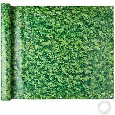 Balkonbespannung Sichtschutz Windschutz Sichtblende LxB 6x 0,75m grünes Laub