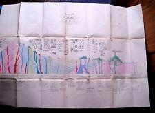 """1857:Da ATLAS F.C.MARMOCCHI.""""SPACCATO IDEALE DELLA TERRA"""" Foglio Cm 58x84."""