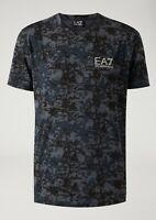 Emporio Armani EA7 CAMOUFLAGE Crew Neck Men Cotton T-Shirts GRREN RRP£119