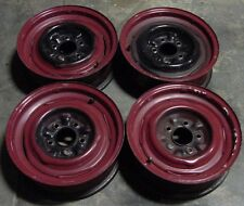 "56 57 58 59 60 61 62 Corvette ""Dog Bone"" Steel Wheels 15x5 Matched Set Date 5/56"