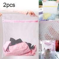 HN- Nylon Net Mesh Bag Laundry Bags Underwear Clothes Aid Washing Socks Bra Wash
