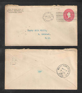 1899 JEWELL BELTING CO HARTFORD CONN US STAMPED ENVELOPE ADVERTISING COVER