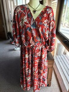 ~~GORGEOUS FLORAL CROSS OVER MAXI DRESS ~AUTOGRAPH~~BWNT~$89.99~size 26