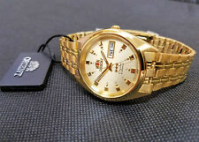 Orient Classic Dress Watch Automatic Gold Tone Satin Gold Dial FREE US SHIP