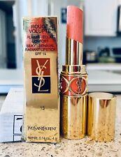 YSL ORIGINAL Rouge Volupte Silky Sensual Lipstick 13 Peach Passion PLZ READ
