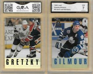 1993 Leaf Gold All-Stars Wayne Gretzky Doug Gilmour 6 of 10 Graded GMA 7 NM