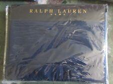 RALPH LAUREN KING SIZE DUVET SET IN INDIGO MODERN BORDER